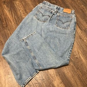 Levis 550 Relaxed Tapered High Rise Mom Jeans